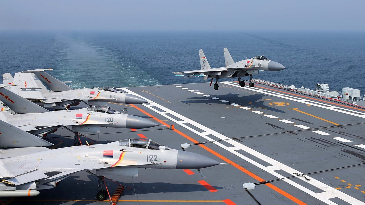 Chinese aircraft carrier Liaoning's latest routine ...