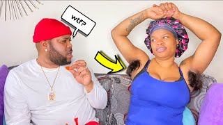 Long Armpit Hair Prank On My Boyfriend *Funny Reaction* screenshot 1