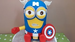 How to: Marvels Captain America Minion Cake Tutorial