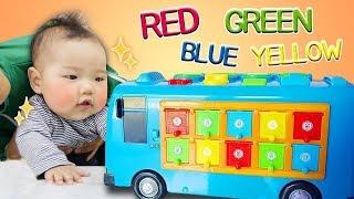 타요 버스와 국민이 색깔 공부 놀이 해요 ! Learn colors with tayo bus and kukmin