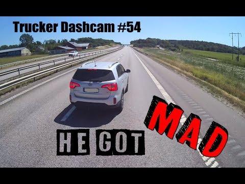 Trucker Dashcam #54 He got MAD!!