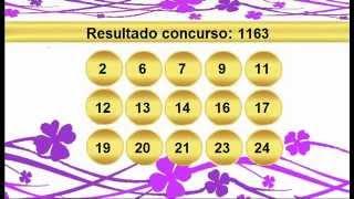 sorteio resultado lotofacil 1163 Palpite 1164