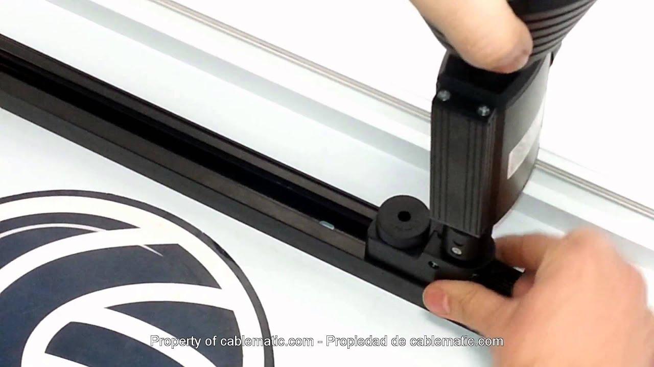 Riel carril luz de techo 1 via distribuido por cablematic for Rieles para toldos de techo