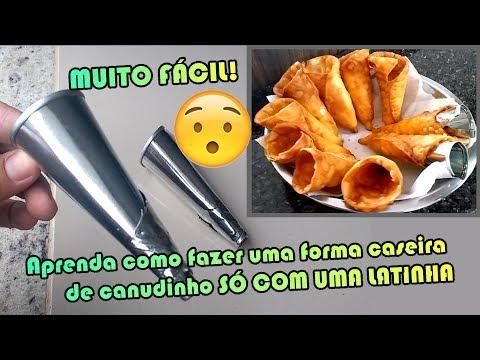 COMO FAZER FORMA CASEIRA PARA CANUDINHO DE FESTA com latinha | Como Fazer Fácil