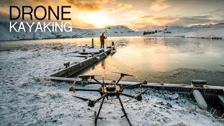 Drone Kayaking in Iceland
