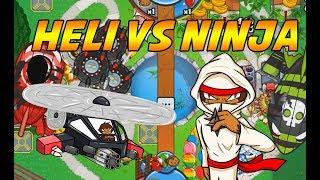 Late Game HELI VS NINJA - Bloons TD Battles Crazy Games