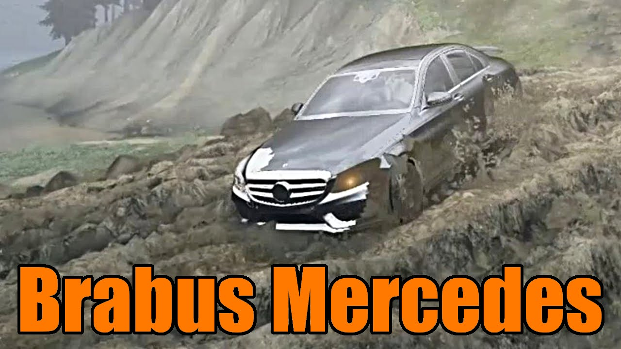 spin tires brabus mercedes c class vs the mud! youtube