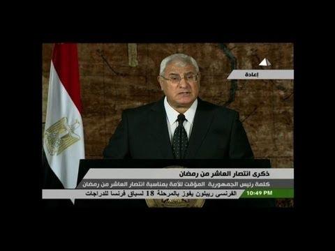 Egypte: premier discours télévisé du président Adly Mansour