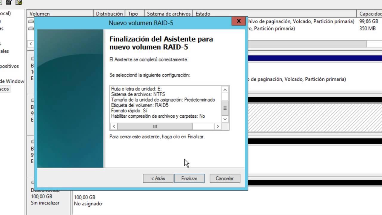 Windows Server 2012 Crear Raid 5 Youtube