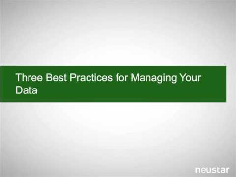 Data Management Best Practices for Marketing Teams | Neustar