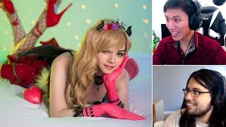 Sneaky SUCCUBUS COSPLAY - Box Box Reacts | AATROX REWORK BROKEN | Imaqtpie | LoL Funny Moments