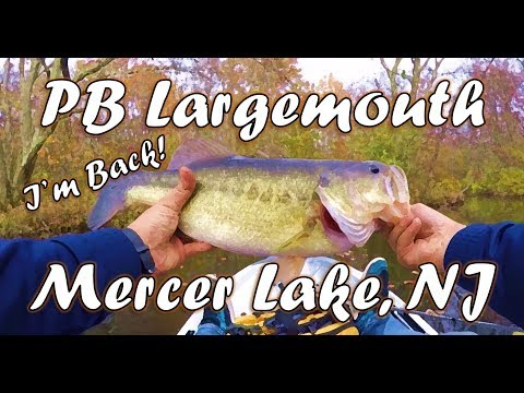I'm Back! Catching My PB LM On Mercer Lake, NJ!