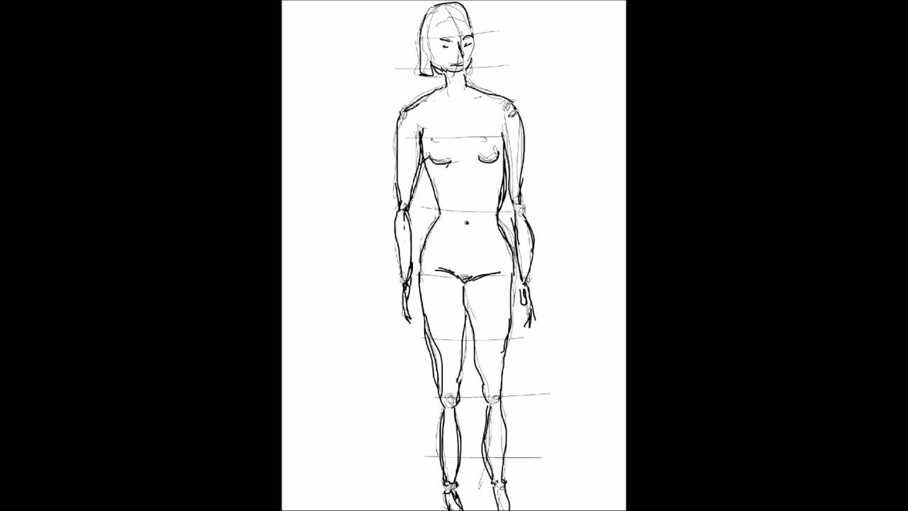 Zeichnen Mensch 1 - YouTube