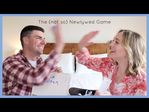 ONE YEAR OF YOUTUBE! OUR DATING STORY! NEWLYWED GAME!