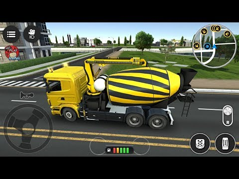 Drive Simulator 2 Free Roam (Build And Play - Concrete Mixer) Android Gameplay #6 FHD