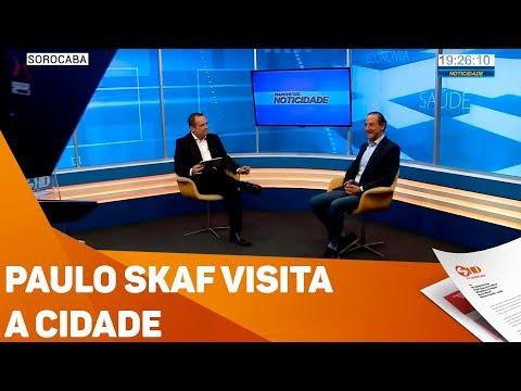 Paulo Skaf visita a cidade - TV SOROCABA/SBT