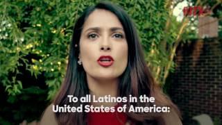 Salma Hayek llama a votantes latinos a apoyar a Hillary Clinton