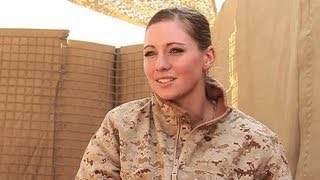 Female US Marine in Afghanistan - Interview