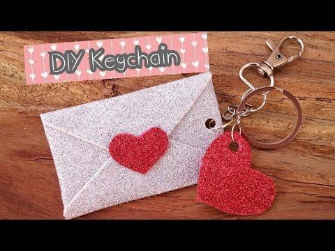 DIY Keychain / How to make glitter foam sheet Keychain / Gift idea