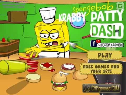 Спанч Боб Крабсбургеры SpongeBob Krabby Patty Dash Help To Make The Krabby Patties For All Visitors;