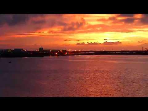 port canaveral webcam sunset 7 6 2011 youtube. Black Bedroom Furniture Sets. Home Design Ideas