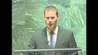 El Maleh Rachamim - Cantor Azi Schwartz at the UN אל מלא רחמים