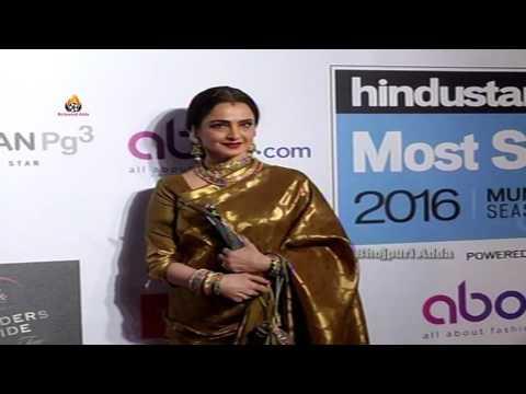 Actress REKHA - Hindustan Times Most Stylish Awards 2016 - In Mumbai
