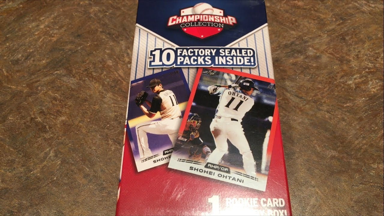 Shohei Ohtani Rookie Card Wal Mart Box A Bunch Of Random Packs Inside