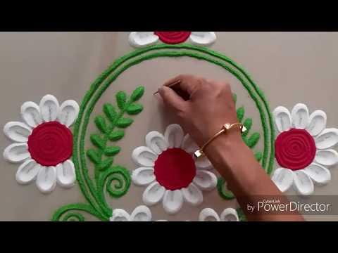 Very Innovative and beautiful Rangoli design by Aarti shirsat ||Top Rangolis thumbnail