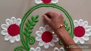 Very Innovative and beautiful Rangoli design by Aarti shirsat ||Top Rangolis