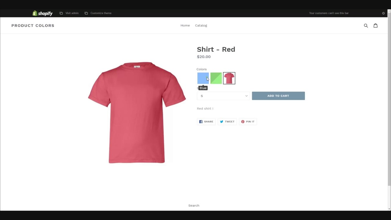 How Do I Get A Product Made Product Colors Shopify App Made By Webyze Youtube
