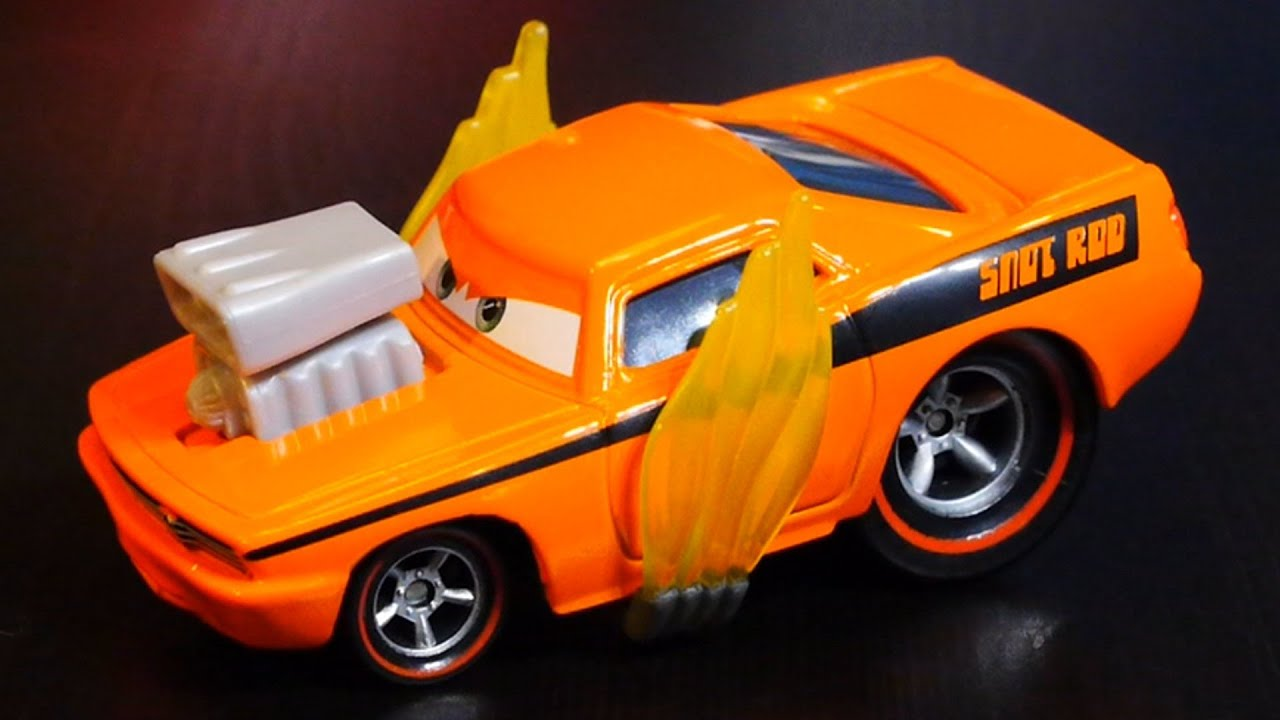 disney pixar cars 2 movie snot rod disney cars diecast toy car snot rod with flames youtube - Cars The Movie 2 Characters