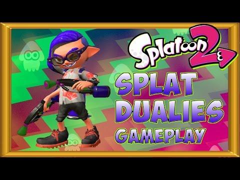 Splatoon 2 Splat Dualies Gameplay   Global Testfire - The new weapon class is OP!