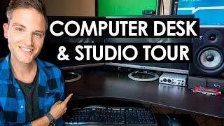 Computer Desk Setup Ideas — Video Editing Studio Tour