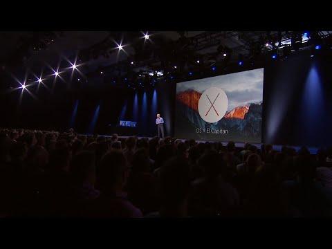 Apple WWDC 2015 - OS X 10.11 El Capitan Introduction