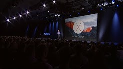 Apple WWDC 2015 - OS X 10.11 El Capitan Introduction