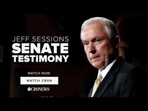 WATCH NOW: Jeff Sessions   Senate Testimony on CBSN