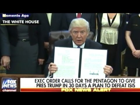 """IT'S NOT A MUSLIM BAN! IT'S WORKING OUT VERY NICELY!"" Donald Trump Signs 3 MORE Executive Orders"