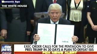 'IT'S NOT A MUSLIM BAN! IT'S WORKING OUT VERY NICELY!' Donald Trump Signs 3 MORE Executive Orders