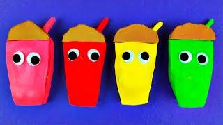 Chocolate Milkshake Play-Doh Surprise Eggs Disney Frozen Spongebob Squarepants Thomas Tank FluffyJet