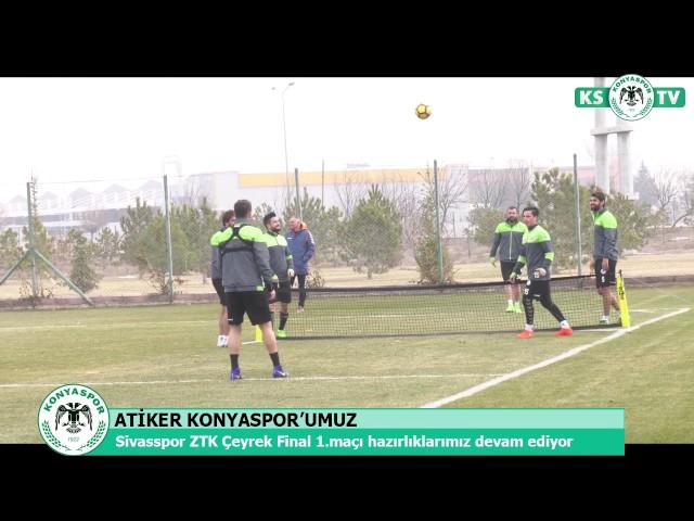 Takımımızda Sivasspor ZTK Çeyrek Final 1. maçı hazırlıkları devam ediyor