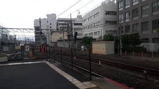 JR西日本京都駅で287系特急まいづるときのさきの入線シーン(2019年10月14日月曜日)携帯電話で撮影