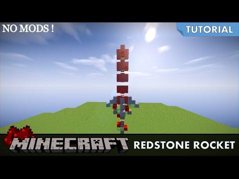 How To Make Minecraft Working Redstone Rocket No Mods!
