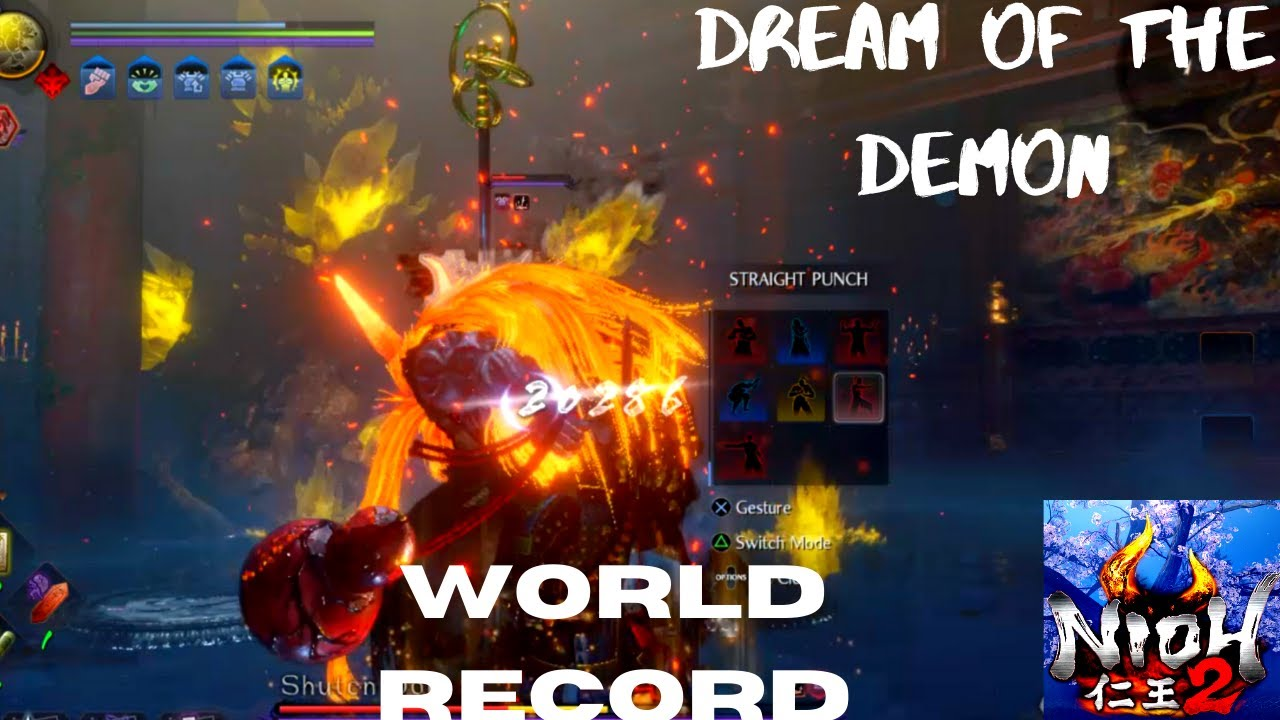Nioh 2 - Shuten Doji World Record Dream of the Demon | Solo Cheese