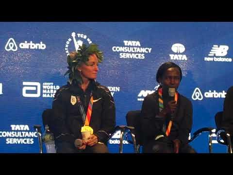 Shalane Flanagan Press Conference After Winning 2017 NYC Marathon