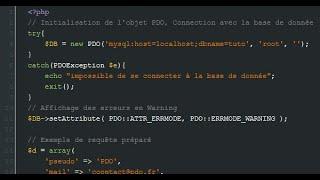Tutoriel php - L'objet pdo en php