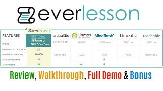 EverLesson Special Review Full Demo Bonus - All In One Membership Software Special Promo