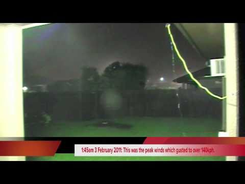 Severe Tropical Cyclone Yasi in Townsville 2 February 2011 Part 1