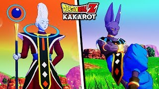 NEW BEERUS & WHIS DLC GAMEPLAY - Dragon Ball Z Kakarot Beerus & Whis Beta (DLC) Moveset & Skills