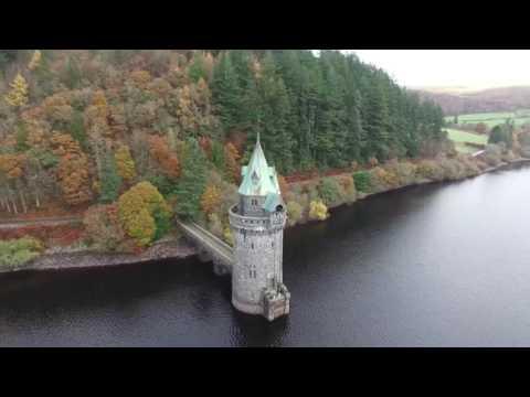 Lake vyrnwy & pistyll Rhaeadr Wales